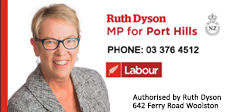 HON RUTH DYSON – MP FOR PORT HILLS